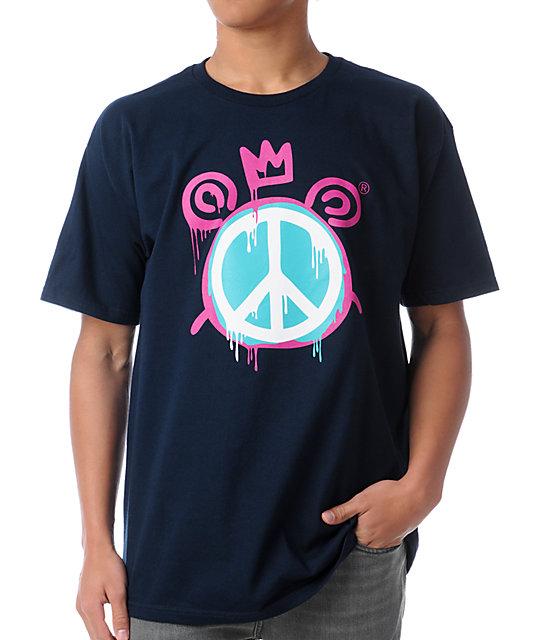 Mishka Peace Mop Navy T-Shirt