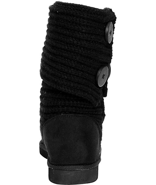 Miss Me Cupcake Black Sweater Boot