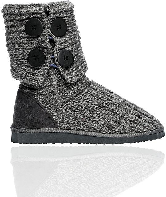 Miss Me Cupcake Grey Sweater Boot