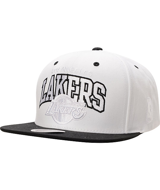 la lakers baseball cap uk and arch white black front