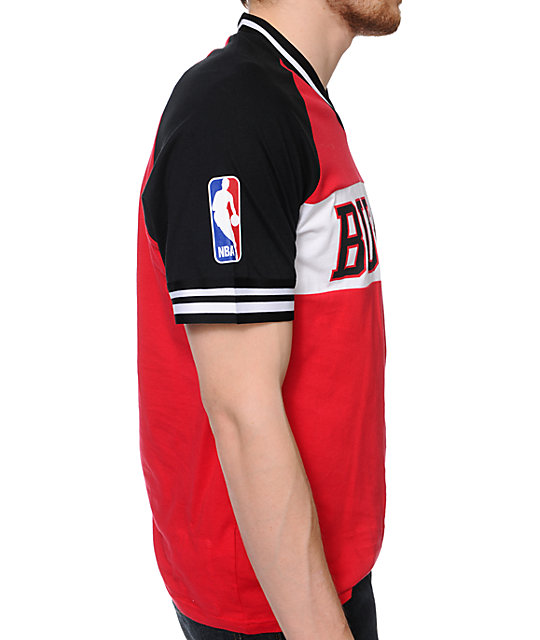 Mitchell and Ness Bulls Substitution Red Knit T-Shirt