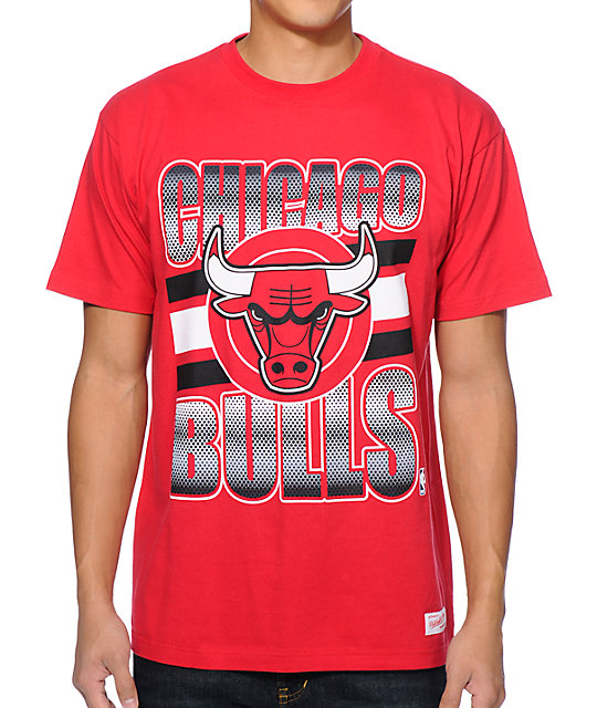 mitchell and ness chicago bulls grad red t shirt. Black Bedroom Furniture Sets. Home Design Ideas