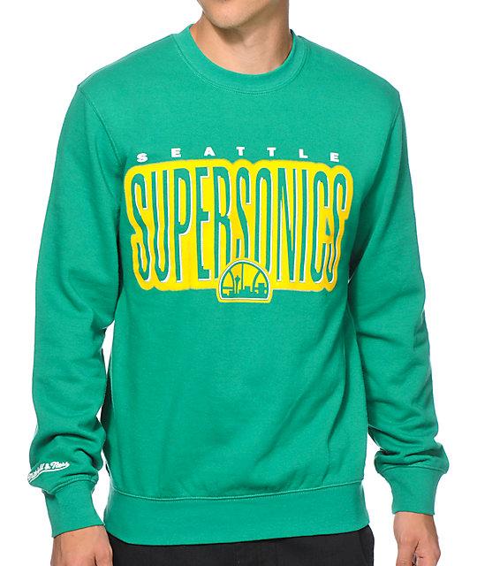Mitchell and Ness Seattle Sonics Retro Crew Neck Sweatshirt