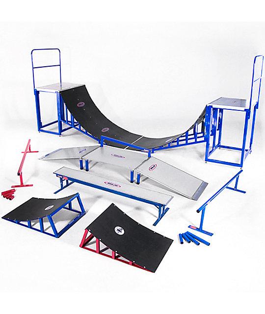 Portable Skate Park Equipment : Mojo rails complete skate park zumiez