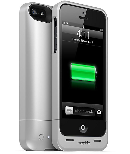 Mophie Juice Pack Helium Silver iPhone 5 Charge Case