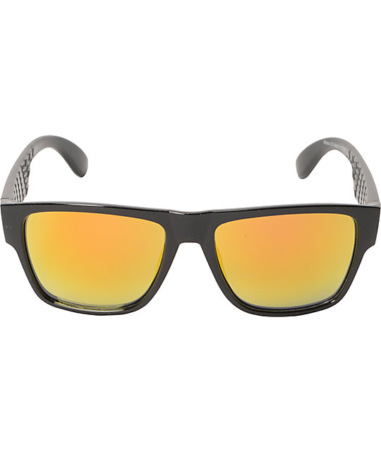 Moss Black & Orange Sunglasses