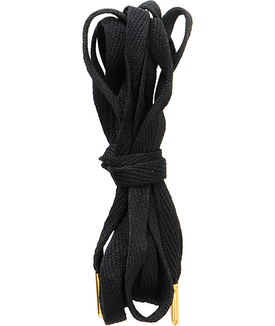 Mr. Lacy Black & Gold Flatties Shoe Laces