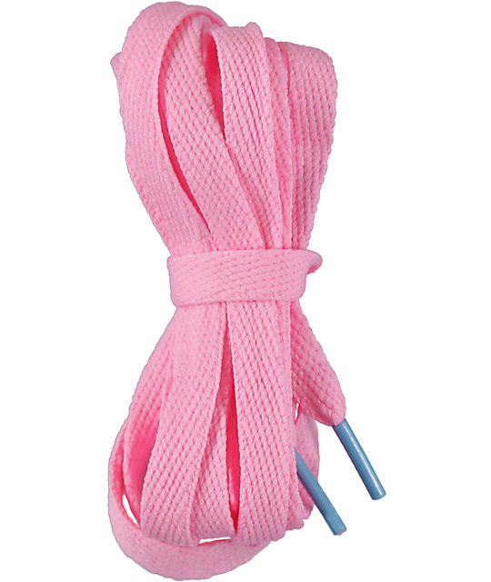 mr lacy flatties ct baby pink kiddy blue shoe laces