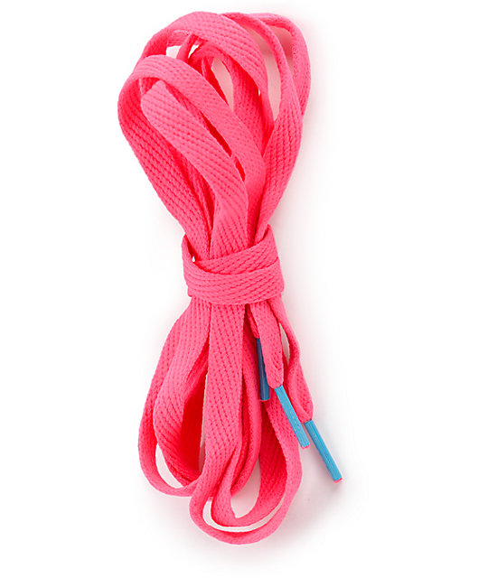 Mr. Lacy Flatties CT Neon Pink Shoe Laces