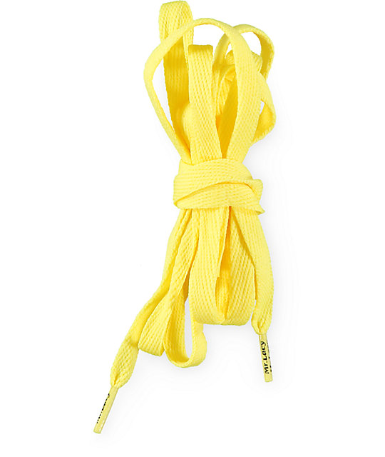 Mr. Lacy Flatties Yellow Shoe Laces