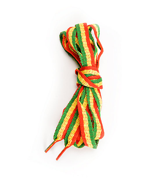 Mr. Lacy Stripies Rasta Stripe Shoe Laces