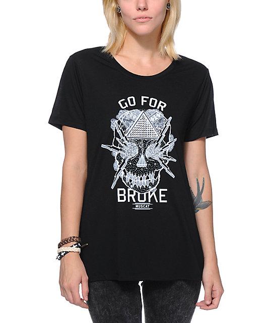 Muscat Go For Broke Black T Shirt