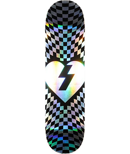 "Mystery Checker Foil 8.12""  Skateboard Deck"