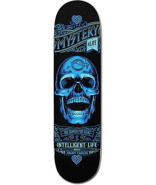 "Mystery Jimmy Carlin Intelligent 8.125""  Skateboard Deck"