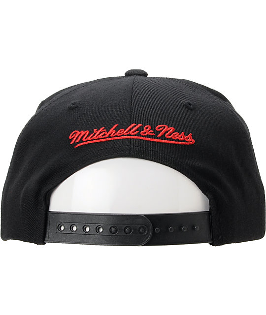 NBA Mitchell And Ness Miami Heat Blocker Black Snapback Hat