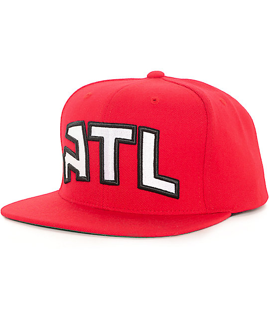 NBA Mitchell and Ness Atlanta Hawks Wool Solid Red Snapback Hat