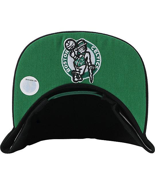 NBA Mitchell and Ness Boston Celtics Black Outline Snapback Hat