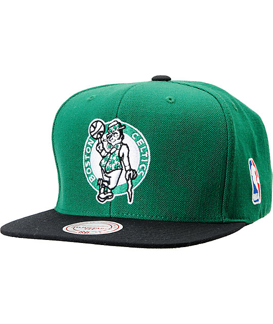 NBA Mitchell and Ness Boston Celtics Standard Logo Green Snapback