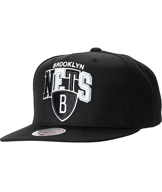 NBA Mitchell and Ness Brooklyn Nets Tri Pop Snapback Hat