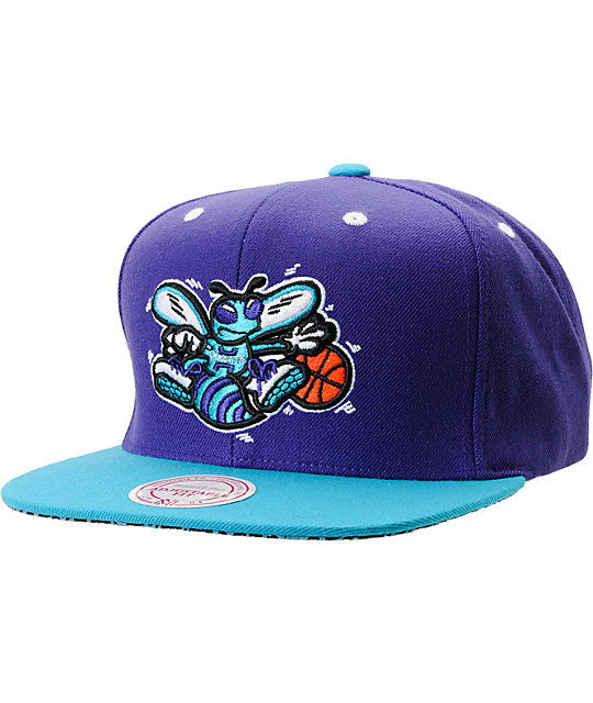 NBA Mitchell and Ness Charlotte Hornets Crackle Snapback Hat
