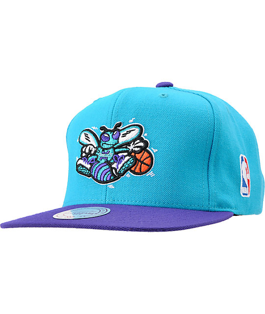 NBA Mitchell and Ness Charlotte Hornets Logo Snapback Hat
