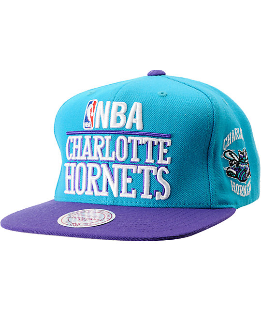 NBA Mitchell and Ness Charlotte Hornets Media Day Snapback Hat