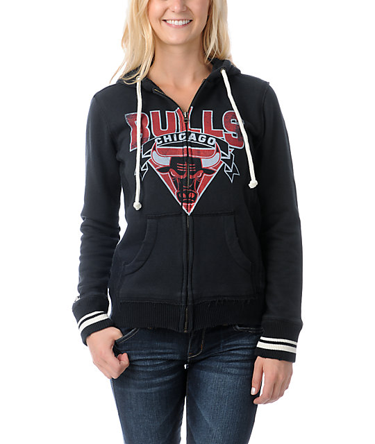 NBA Mitchell and Ness Chicago Bull Vintage Hoodie
