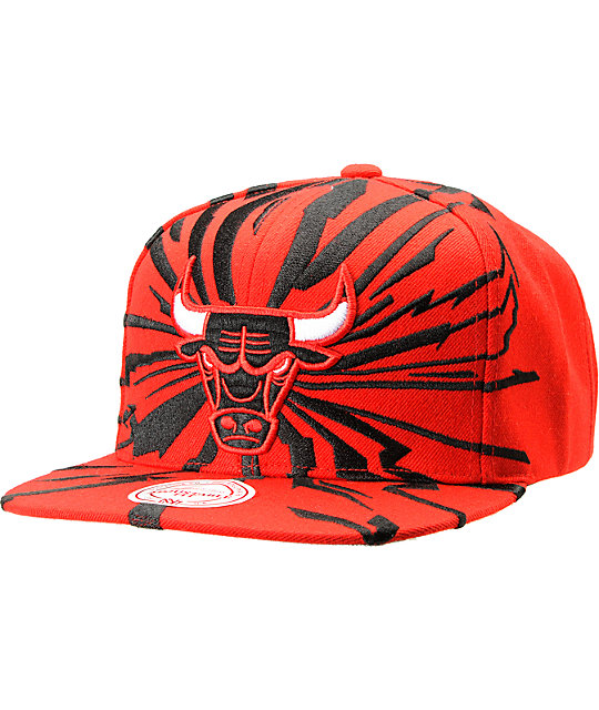 NBA Mitchell and Ness Chicago Bulls Earthquake Snapback Hat