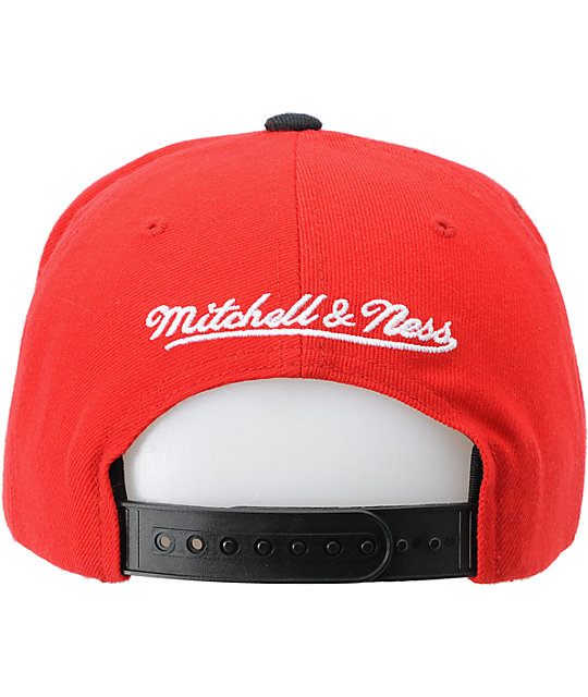 NBA Mitchell and Ness Chicago Bulls Reverse Stack Snapback Hat