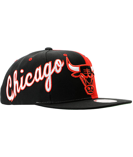 NBA Mitchell and Ness Chicago Bulls The Split Snapback Hat