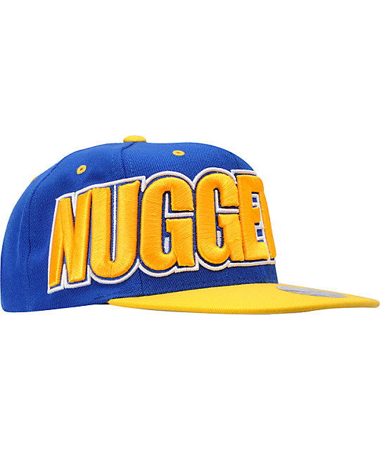 NBA Mitchell and Ness Denver Nuggets Wordmark Snapback Hat
