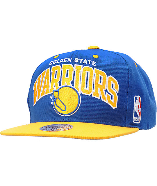 NBA Mitchell and Ness Golden State Warriors Arch Snapback Hat
