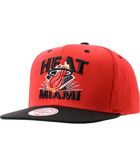 NBA Mitchell and Ness Heat Grand Arch Snapback Hat
