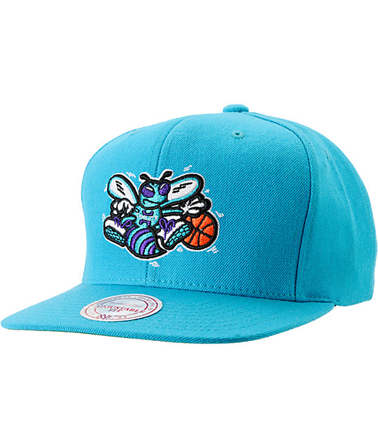 NBA Mitchell and Ness Hornets Classic Snapback Hat