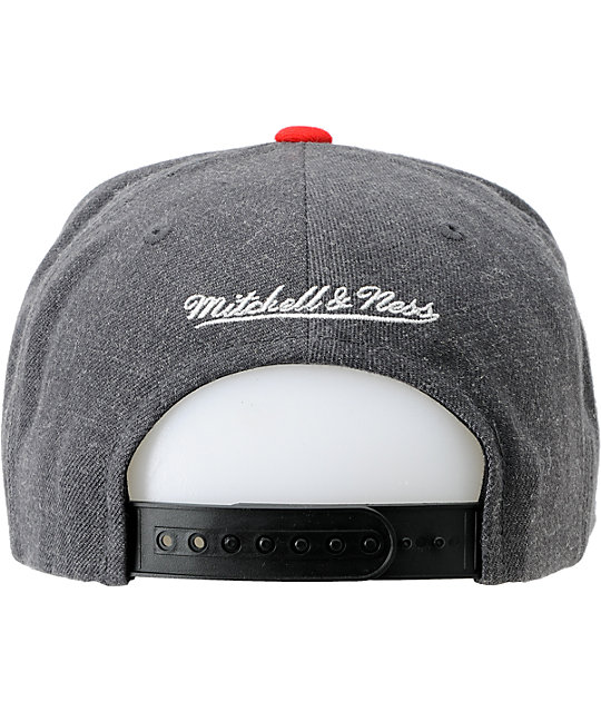 NBA Mitchell and Ness Houston Rockets Charcoal Snapback Hat