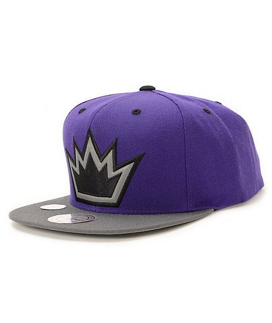 NBA Mitchell and Ness Kings XL Reflective Snapback Hat