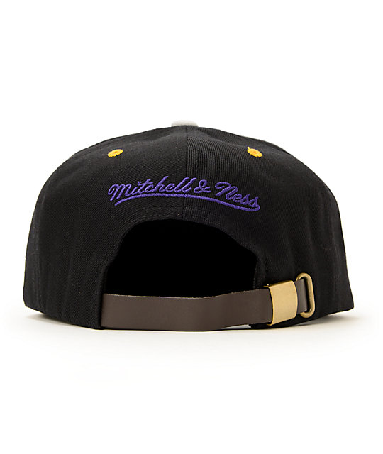 NBA Mitchell and Ness Lakers Grey Cord Visor Strapback Hat
