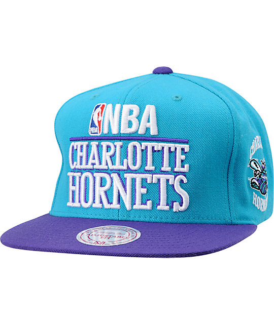 NBA Mitchell and Ness Media Day Charlotte Hornets Snapback Hat
