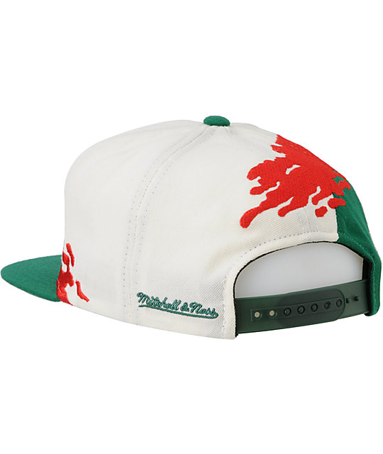 NBA Mitchell and Ness Milwaukee Bucks Paintbrush Snapback Hat