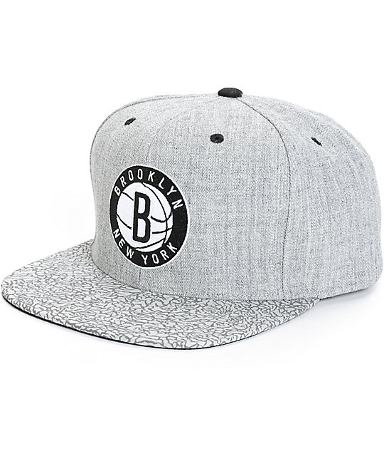 NBA Mitchell and Ness Nets Crackle Snapback Hat
