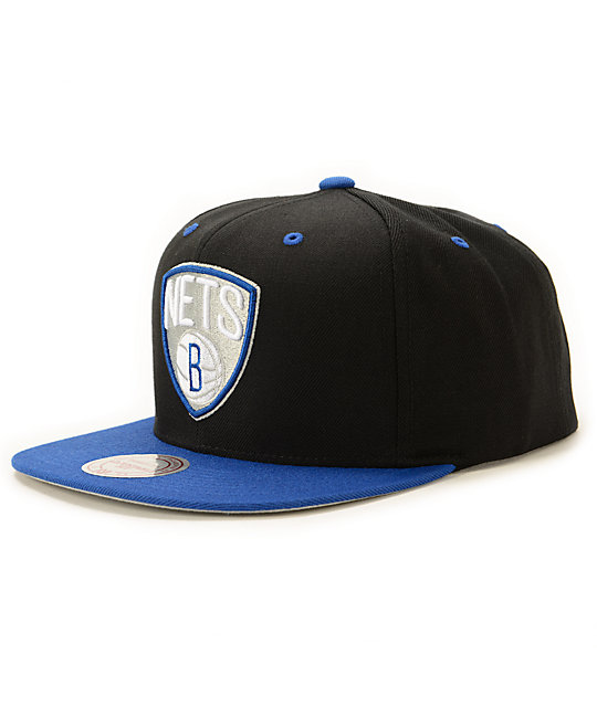NBA Mitchell and Ness Nets Sportsblue Strapback Hat