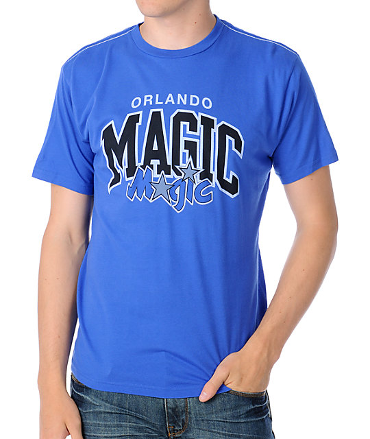 NBA Mitchell and Ness Orlando Magic Arch Blue T-Shirt