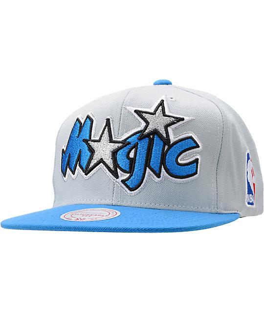 NBA Mitchell and Ness Orlando Magic Grey Snapback Hat