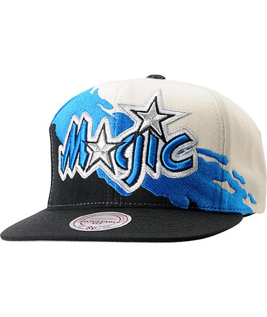 NBA Mitchell and Ness Orlando Magic Paintbrush Snapback Hat
