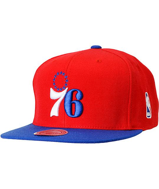 NBA Mitchell and Ness Philadelphia 76ers Basic 2Tone Snapback Hat