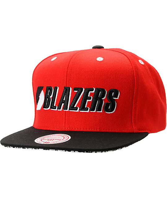 NBA Mitchell and Ness Portland Trailblazers Crackle Snapback Hat