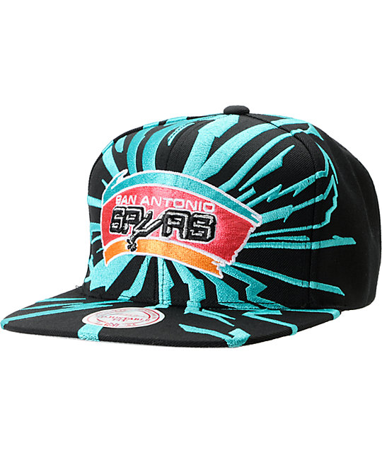 NBA Mitchell and Ness San Antonio Spurs Earthquake Snapback Hat