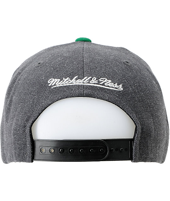 NBA Mitchell and Ness Seattle Supersonics Charcoal Snapback Hat