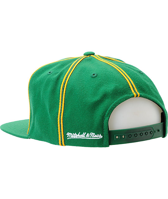NBA Mitchell and Ness Seattle Supersonics Double Pinstripe Snapback Hat