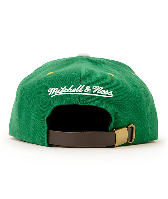 NBA Mitchell and Ness Sonics Grey Cord Visor Strapback Hat